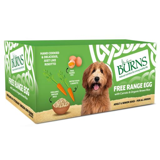 Burns Wet Food Free Range Egg with Carrots & Brown Rice 6x395g