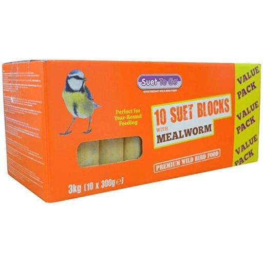 Suet To Go Mealworm Block Value 10 Pack